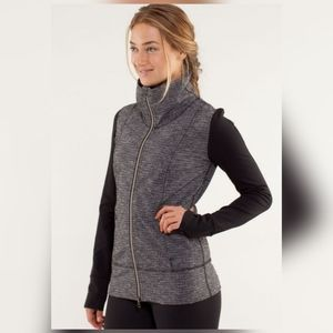Lululemon daily yoga jacket coco pique and black